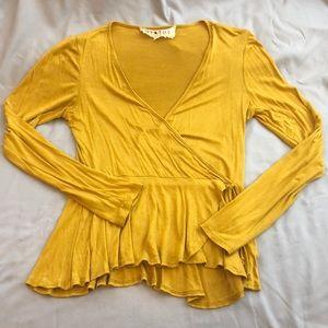 Long sleeve yellow shirt